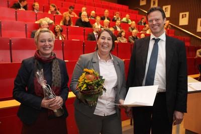 v. links n. rechts: Tonja Soós, Dr. Eefje Barber, Prof. Dr. Ralf Junker
